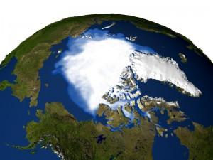 Современный северный полюс и Гренландия