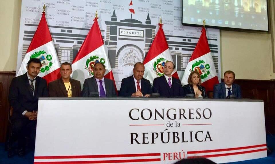 Презентация на конгрессе республики Перу