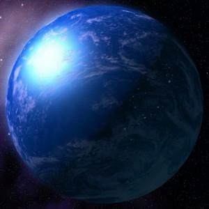 Молодая Земля без континентов.
