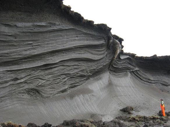 Так выглядит слой вечной мерзлоты